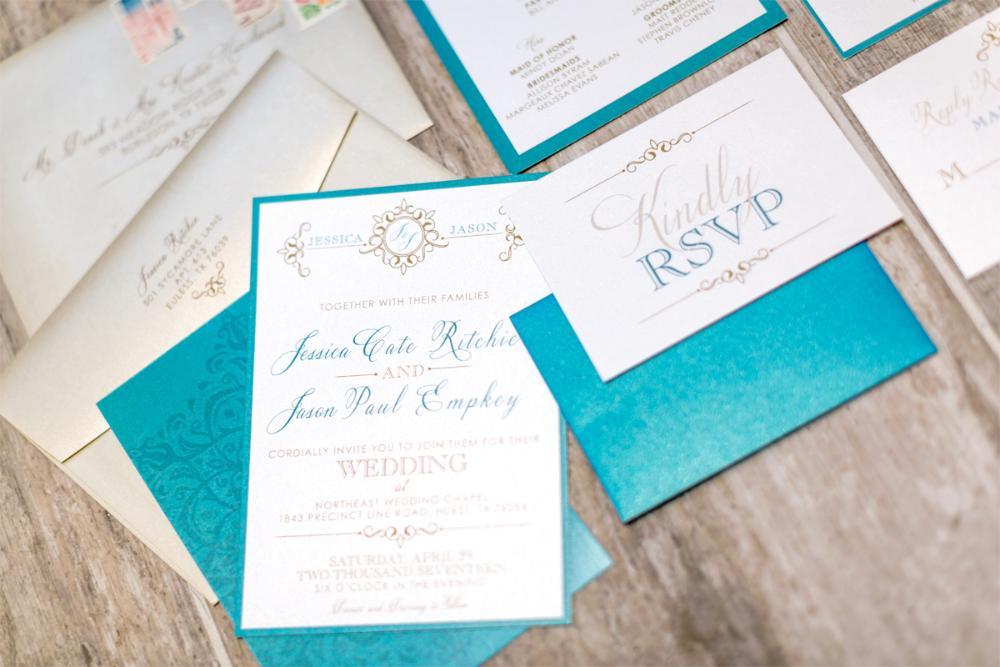 Royal Blue And Lime Green Wedding Invitations: Brown Fox Creative