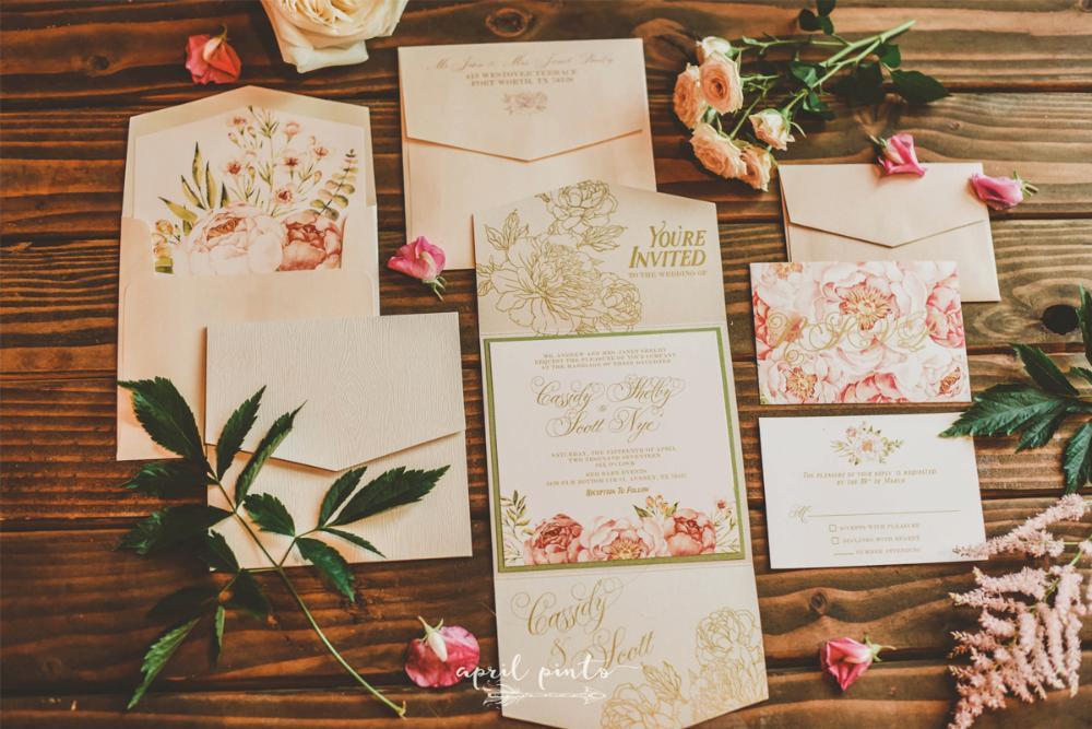 folding wedding invitations