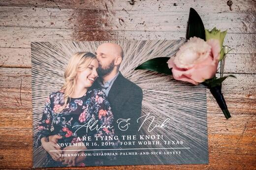 Photo Based Save the Date, Modern Design